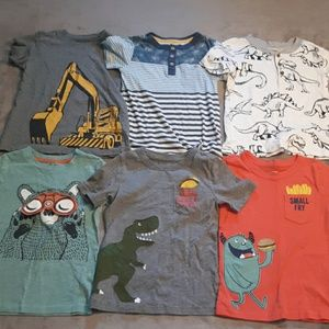 Lot of 6 boys size 5t Carters t shirts